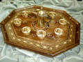 X Large Handmade Mosaic Mother of Pearl Decorationa Serving Tray