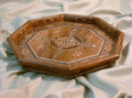 New Octagonal Shape Handmade Woody Mosaic with Mother of Pearl Serving Tray