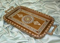 High Quality Mosaic Serving Tray with Mother of Pearl with Hands