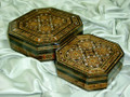Fabulous Wooden Mosaic Box Set, Two Birthday Gift in One