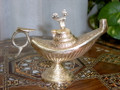 Unique Ornamented Brass Aladdin Genie Oil Lamp Jasmine