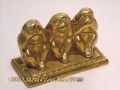 Three Brass Decorative Monkeys