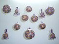 Purple Hand Painted Glass Christmas Set