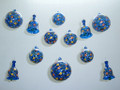 Hand Painted Glass Holiday Ornaments and Christmas Ornament Set