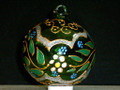 Unique Handmade Painted Glass Christmas Ball.