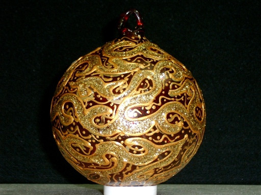 Fancy Hand Painted Christmas Tree Decoration Balls