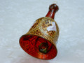 Unique Handmade Painted Glass Christmas Bell
