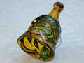 Elegant Mouth Blown and Hand Painted Glass Xmas Bell
