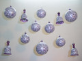 Stunning Hand Painted Glass Christmas Ornament Balls and Bells.
