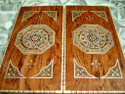 mother of pearl backgammon board