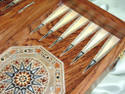 mother of pearl backgammon boards
