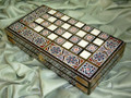 Middle Eastern Mosaic Art Backgammon & Chess Board