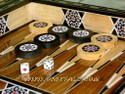 Middle Eastern Mosaic Backgammon Board
