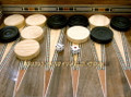 Quality Wooden Backgammon Game Pieces with 3 Dices