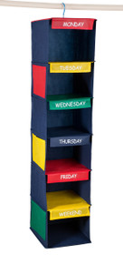 "Daily Activity Kids Closet Organizer Hanger | 11"" X 11"" X 48"""
