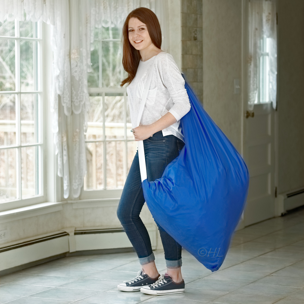 ee14f77023b88 Nylon Laundry Bag with Shoulder Strap