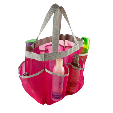 Mesh Shower Caddy Tote | 7 Pockets | Assorted Colors
