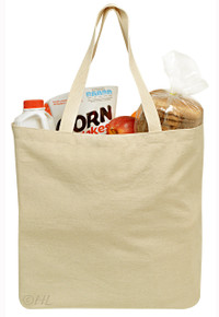 "Reusable Grocery Canvas Bag - 19"" x 15"""