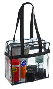 "Clear Tote Bag - NFL Stadium Approved - 12"" X 12"" X 6"""