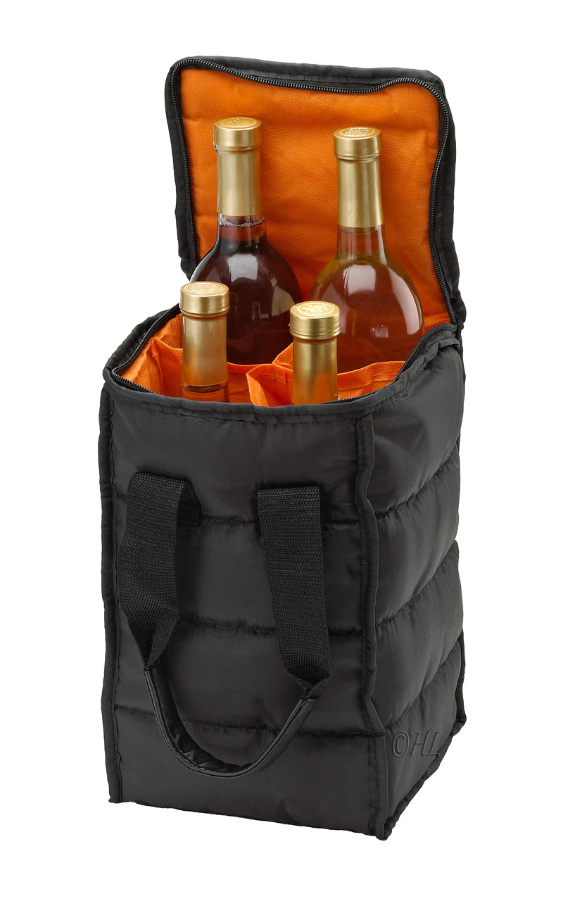 d85d9ac5e7cf Wine Carrier Tote Bag - 2 and 4 Bottle Pockets