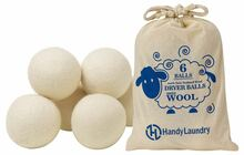 Wool Dryer Balls - Natural Fabric Softener - Pack of 6