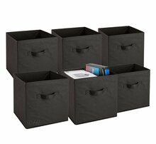 Black Storage Bins