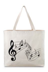"Reusable Printed Canvas Bag | Assorted Styles | 20""W x 15""H x 5""D"