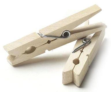 72 Wood Clothespins