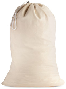"Cotton Laundry Bag - Natural Color - 24"" x 36"""