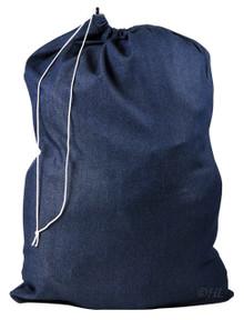 "Denim Laundry Bag - Drawstring Closure - 30"" x 40"""