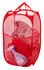 Mesh Pop Up Hamper Red
