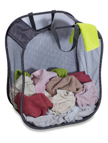 "Mesh Foldable Hamper | Assorted Colors | 18"" X 11"" X 24"""