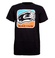 KWALA RACING T SHIRT  BLUE/ORANGE SLIM FIT STYLE