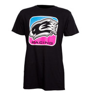 KWALA RACING LOGO T SHIRT PINK/BLUE SLIM FIT STYLE