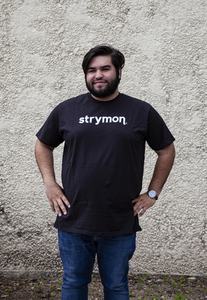 Strymon t-shirt (silver on black)