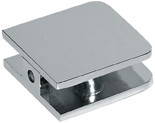 Glass Clamp 1 hole  Rounded Edge 44x44 Small Clamp - Rounded Square - bn