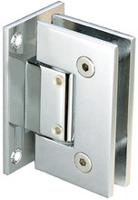 Glass to Wall Full Back Plate Regular Weight Hinge - SQ - cp