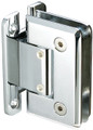 "Glass to Wall ""H"" Back Plate Regular Weight Hinge - Bev - bn"