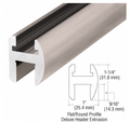 "For 5/16"", 3/8"", and 1/2"" (8, 10, and 12 mm) Glass  One 66"" (1.67 m), 98"" (2.49 m) or 144"" (3.66 m) Piece of Aluminum Header Extrusion One 36"" (914 mm) Piece of Aluminum Snap-In Filler for Door Pocket One Pack of Two BWB2 Brass Wall Mounting Brackets  Clear Vinyl for 5/16"" (8 mm) and 3/8"" (10 mm) Glass"