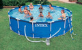 15 ft x 42 in Metal Frame Pool Set w/ Cartridge Filter Pump