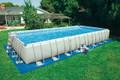 Ultra Frame Rect. Pool Set - Sand Filter Pump & Saltwater System