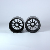 F1 Foam Front  Wheels (pr.) Black
