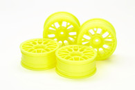RC 24MM MED-NARROW MESH WHEELS Yellow/Offset +2 (4Pcs)