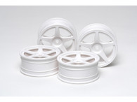 RC 24MM 5-SPOKE WHEELS 4PCS White/+0
