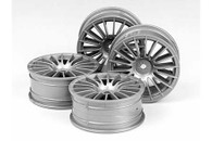 RC 24MM 18-SPOKE WHEELS-4PCS Gray/+0