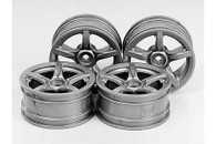 RC 24MM 5-SPOKE WHEELS-4PCS Carrera Gt Style/+2