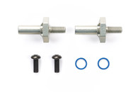 RC LW ONE-PIECE ALUM AXLE/HUB M-Chassis