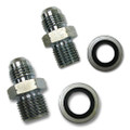 POWER STEERING BOX FITTING SET: -6 AN TO 16MM Bump Steer O-Ring and -6 AN Male to 18MM Bump Steer O-Ring
