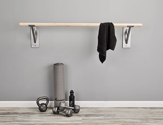 Custom Barres Barre Fitness - Cabriole Single Barre Bracket