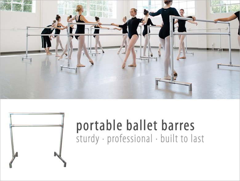Shop Portable Ballet Barre, shop portable ballet bar, free standing ballet barre, freestanding ballet barre
